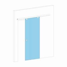 Раздвижная дверь с закрытым механизмом