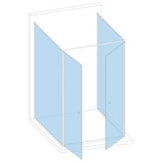 Кабина к стене с двумя дверями